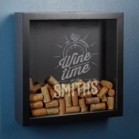Always Wine Time Custom Shadow Box