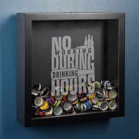 Drinking Hours Beer Cap Shadow Box
