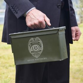 Police Badge Personalized Ammunition Box