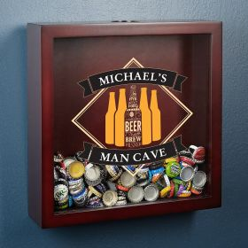 Cool & Crafted Personalized Shadow Box for Beer Caps