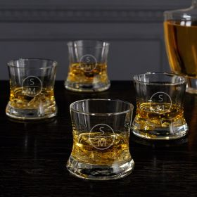 Emerson Custom Whiskey Glasses, Set of 4