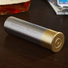 Shotgun Shell Engravable Stainless Steel Flask