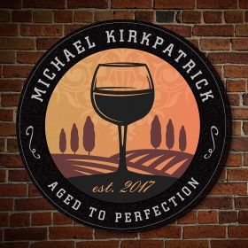 Tramonto Personalized Winery Sign