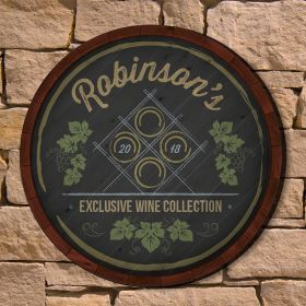 Antique Wine Rack Personalized Home Decor Sign