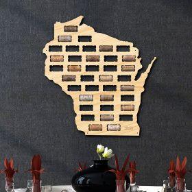 Wisconsin Wine Cork Map