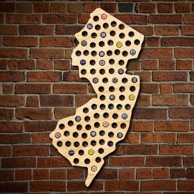 Giant XL New Jersey Beer Cap Map