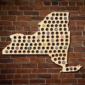Giant XL New York Beer Cap Map