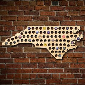 Giant XL North Carolina Beer Cap Map