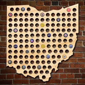Giant XL Ohio Beer Cap Map