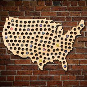 Giant XL USA Beer Cap Map