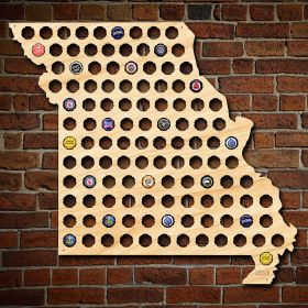 Giant XL Missouri Beer Cap Map