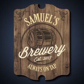 Barrel of Brew Custom Bar Sign
