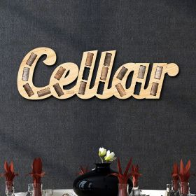 Cellar Phrase Wine Cork Holder Wall Decor
