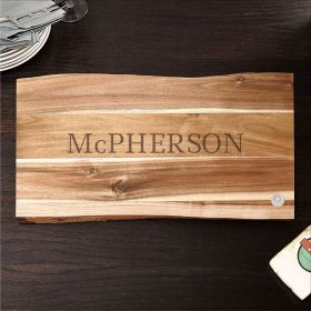 In the Raw Classic Cut Personalized Wood Cutting Board, 11X17