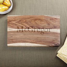 Exotic Hardwood Classic Cut Personalized Cutting Board