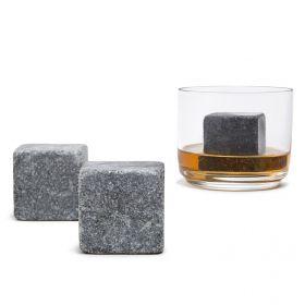 XL Natural Soapstone Whiskey Stones, Set of 2