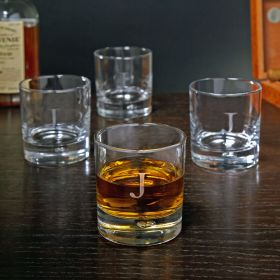Personalized Bryne Double Old Fashioned Glasses, Set of 4