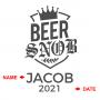 Beer Snob Personalized Beer Mug