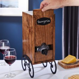 Cunningham Wooden Box Wine Holder And Stand