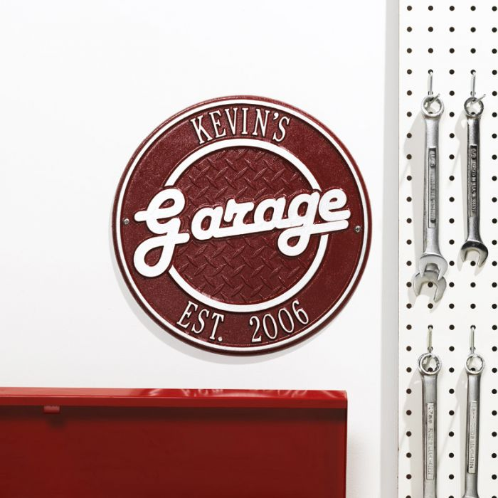 Superior Personalized Garage Outdoor Wall Plaque