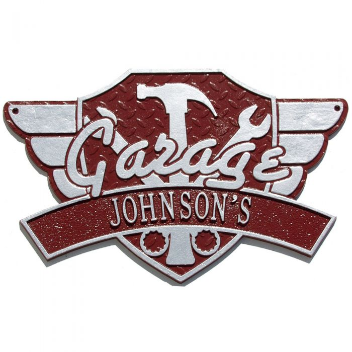 Good Personalized Garage Wing Outdoor Wall Plaque