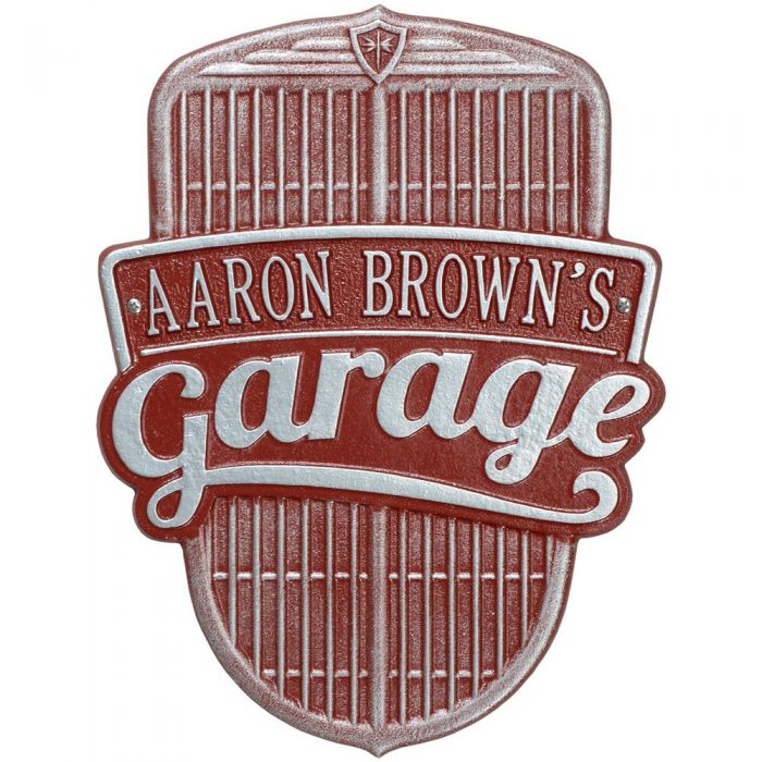 Personalized Car Grille Outdoor Wall Plaque