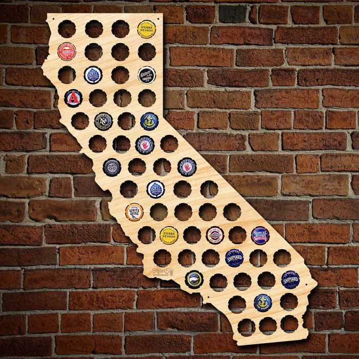 Amazoncom USA Beer Cap Map Ultra Detailed Glossy Wood Bottle Beer