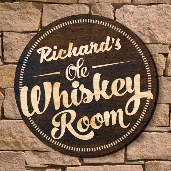 Whiskey Room Home Bar Sign Signature Series