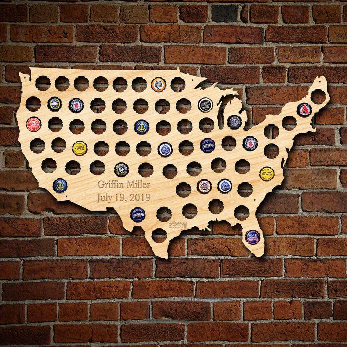 Cap Map of USA Large