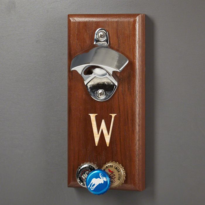 Baxter Magnetic Bottle Opener With Cap Catcher Engravable