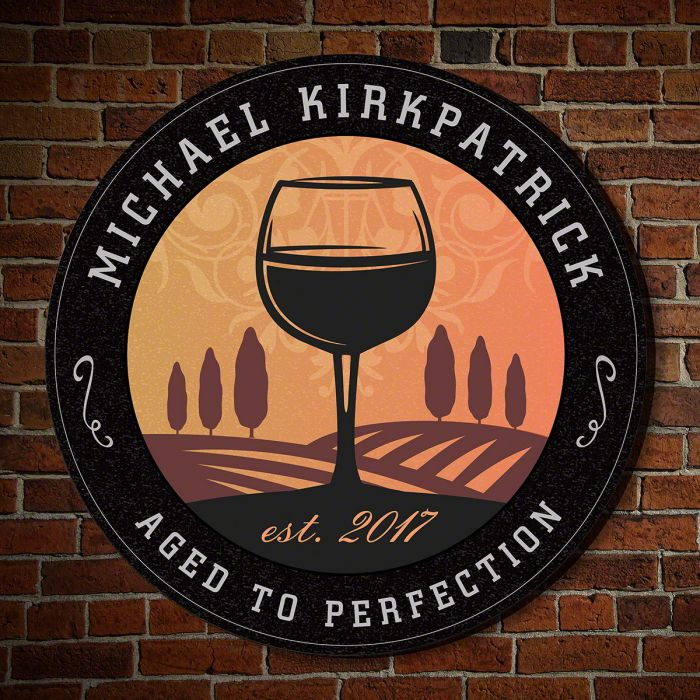 New Tramonto Personalized Winery Sign