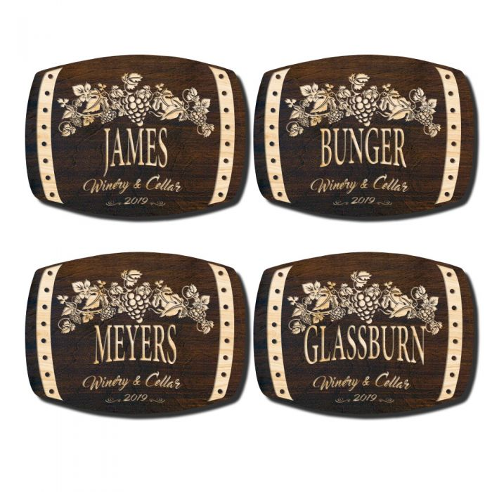 New Handsome Harvest Personalized Wine Wall Decor Signature Series