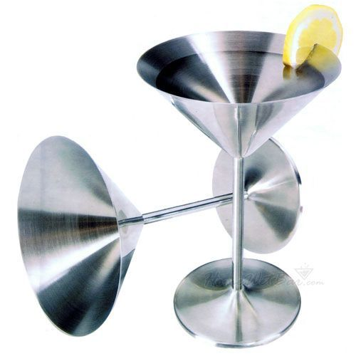 stainless steel martini glasses