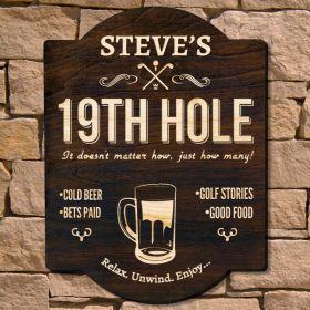 Ideal Nineteenth Hole Custom Wall Sign Signature Series