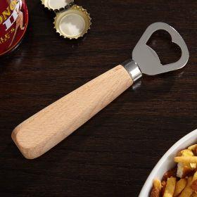 bottle opener with beechwood handle