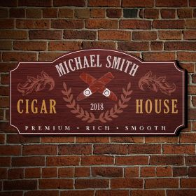 Awesome Famous Smoke Personalized Wall Decor Sign