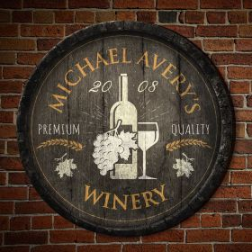 Great Fruit of the Vine Personalized Wall Decor Sign