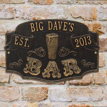 Personalized bar wall decor