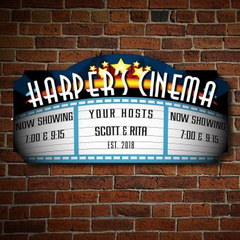 Merveilleux Blockbuster Custom Home Theater Sign