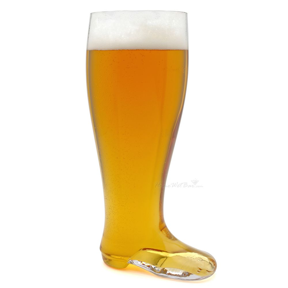 Hand-Blown Das Beer Boot - German 2 Liter