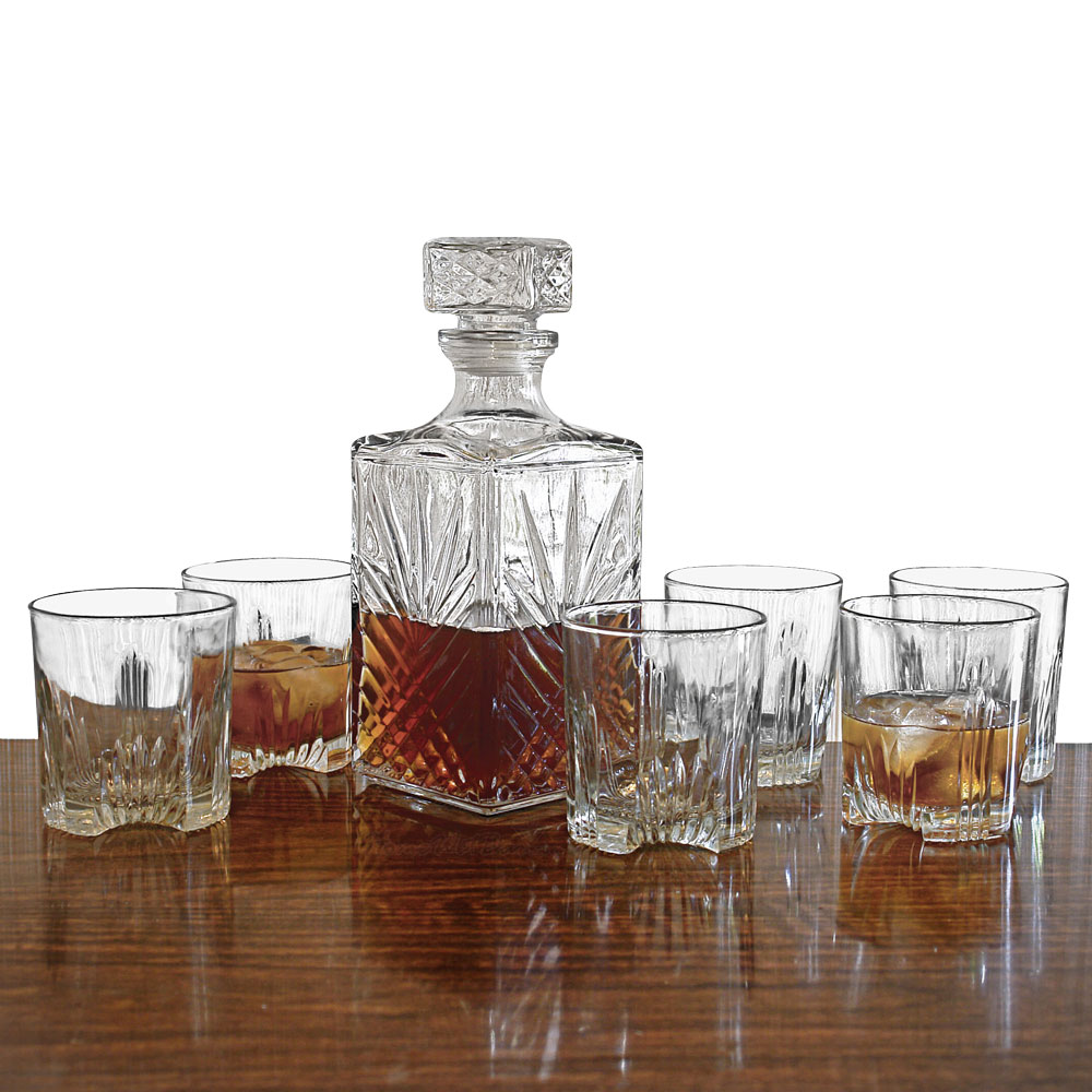 Sparta-Whiskey-Decanter-and-Glasses-7-Piece-Set