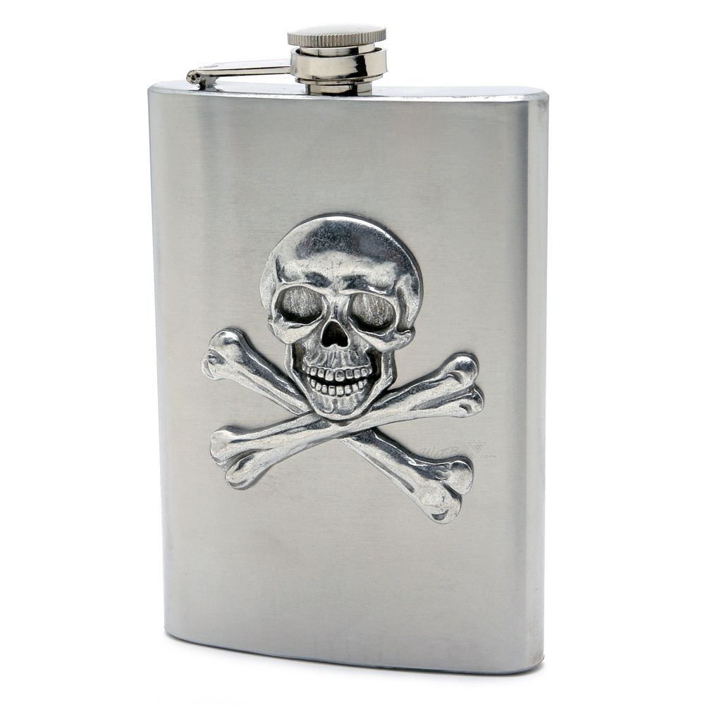 Skull and Crossbones Hip Flask