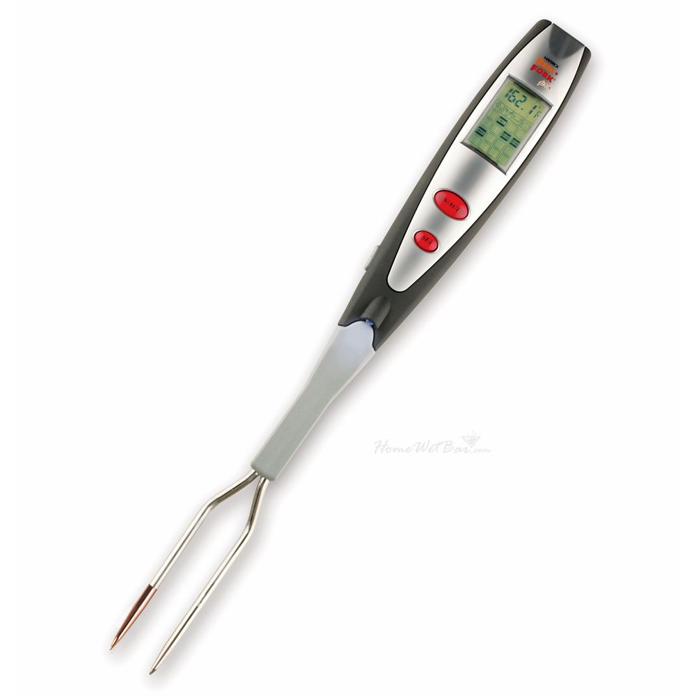 Instant Read Pro Lcd Thermometer Grill Fork With Light