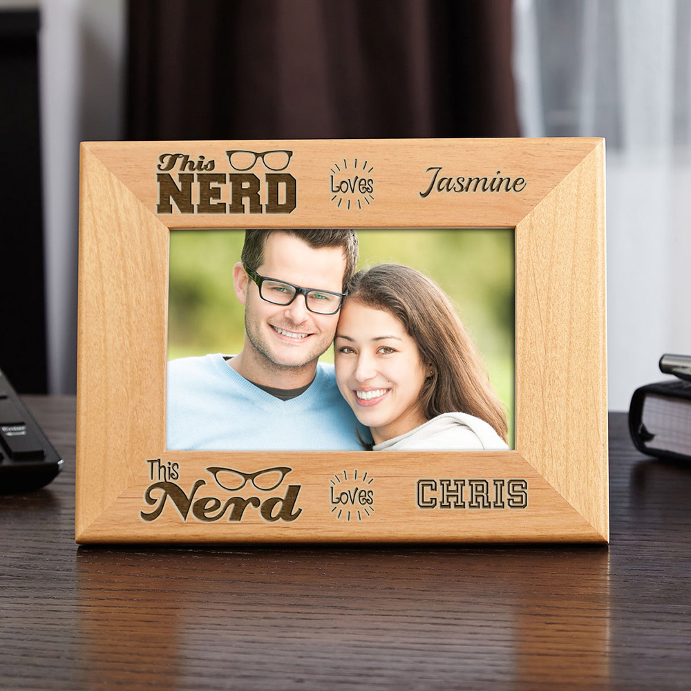 Nerd-Love-Personalized-Wood-Picture-Frame