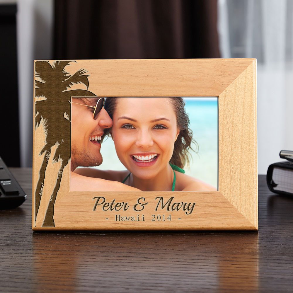 Island-Palms-Personalized-Picture-Frame
