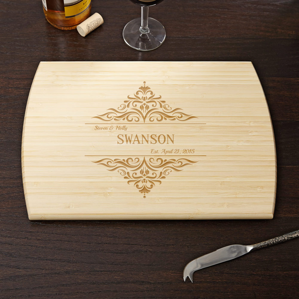 Personalized Family Home Cutting Board, 10x14