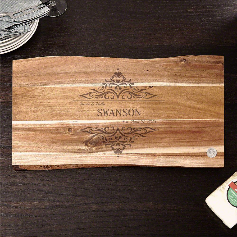 In the Raw Personalized Family Home Cutting Board, 11x17