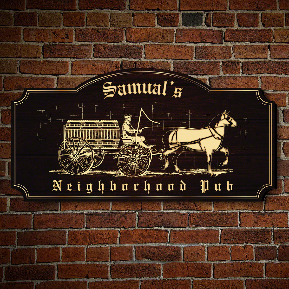 Historic Neighborhood Pub Personalized Sign