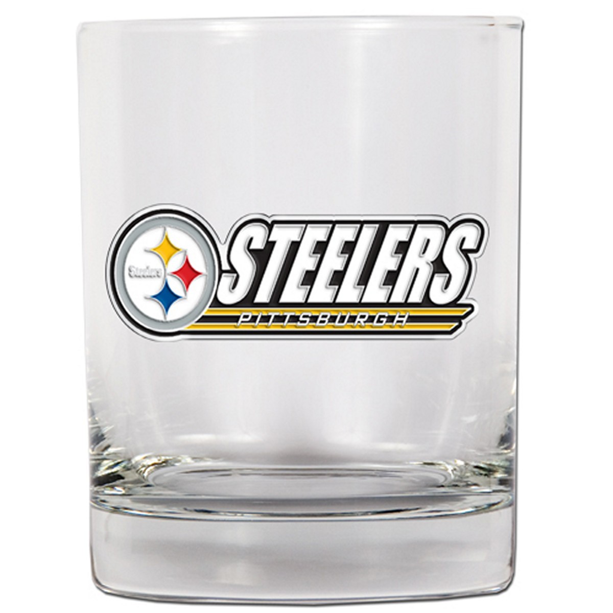 Pittsburgh Steelers Whiskey Glass (Engravable)