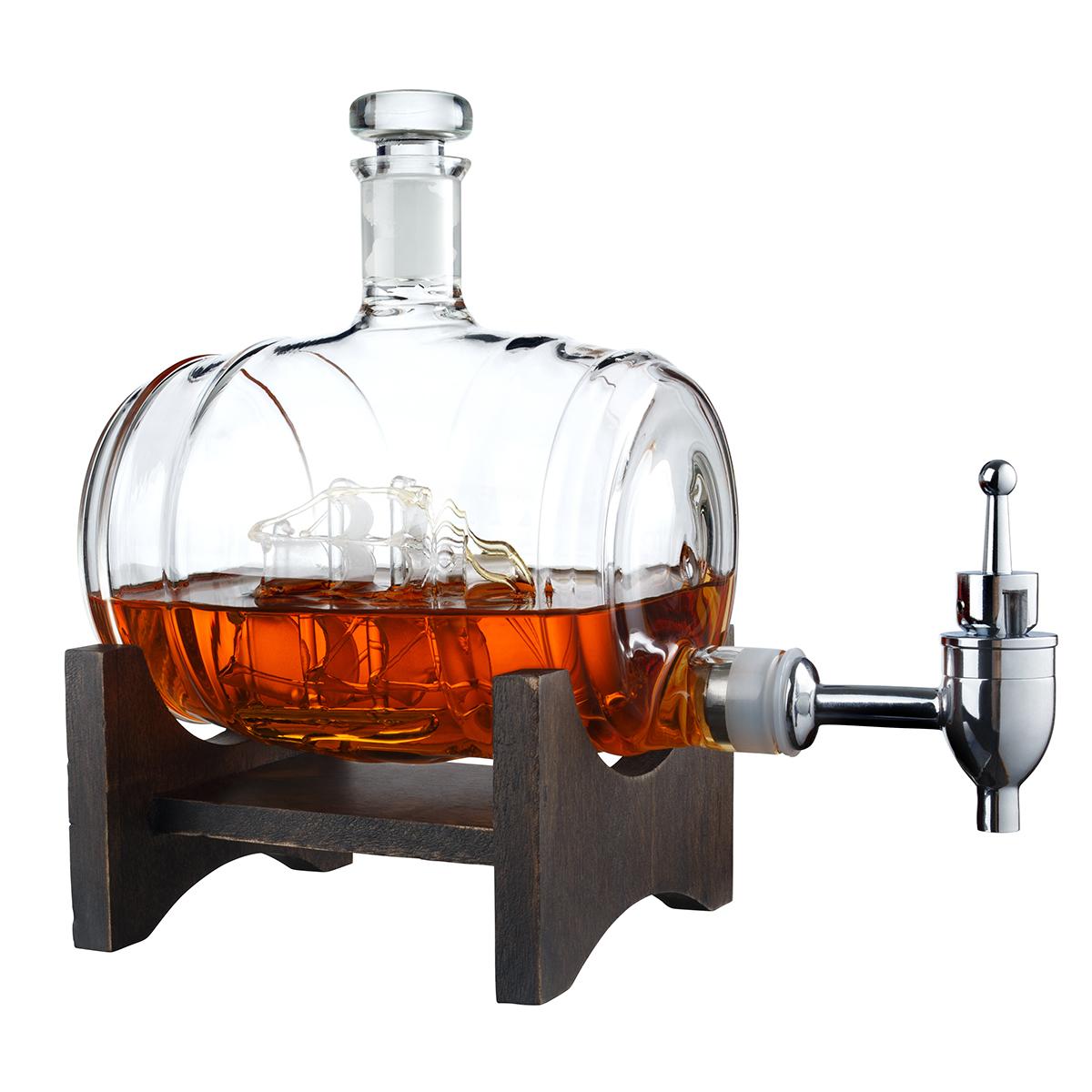 Ship in Your Bottle Spigot Decanter